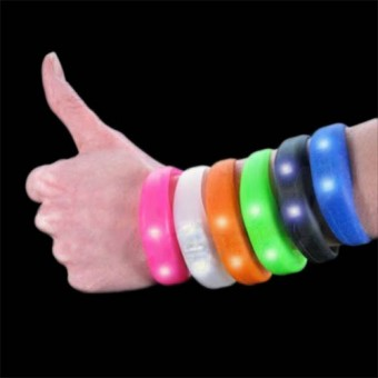 Image of   Blink Bandz Silikonearmbånd - Farve: Sort