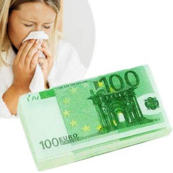 Image of   100 euro Seddel Papirlommetørklæder