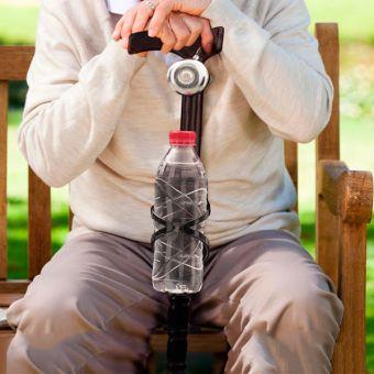 Image of   Træstok med Klokke og Flaskeholder