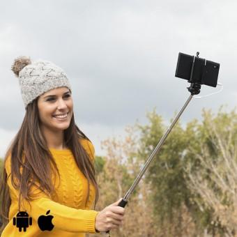 Image of   Selfiepind med Kabel - Farve: Sort