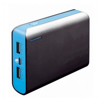 Image of   Power Bank med lygte PLATINET PMPB6BBL 6000 mAh 2 x USB 1 A / 2.1 A 5 V Blau