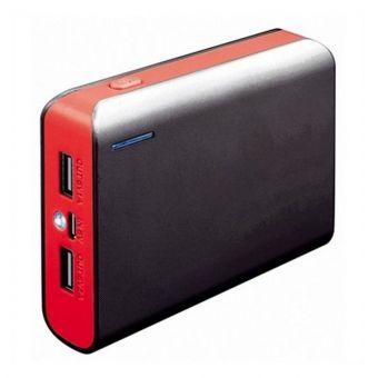 Image of   Power Bank med lygte PLATINET PMPB6BR 6000 mAh 2 x USB 1 A / 2.1 A 5 V Rød