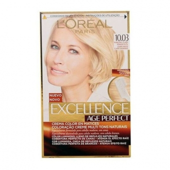 Permanent Anti-Age Farve Excellence Age Perfect L\'Oreal Expert Professionnel Lys gylden blond
