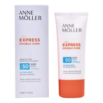 Solbeskyttelsee - lotion Express Double Care Anne Möller Spf 50 (50 ml)