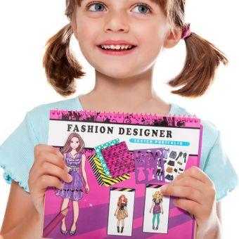 Image of   Mode Notesbog til Børn - Design: Fashion Designer