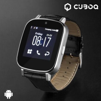 Image of   CuboQ Leather Smartwatch