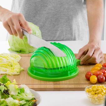 Image of   Quick Salad Maker Skål til Vask og Udskæring af Salat