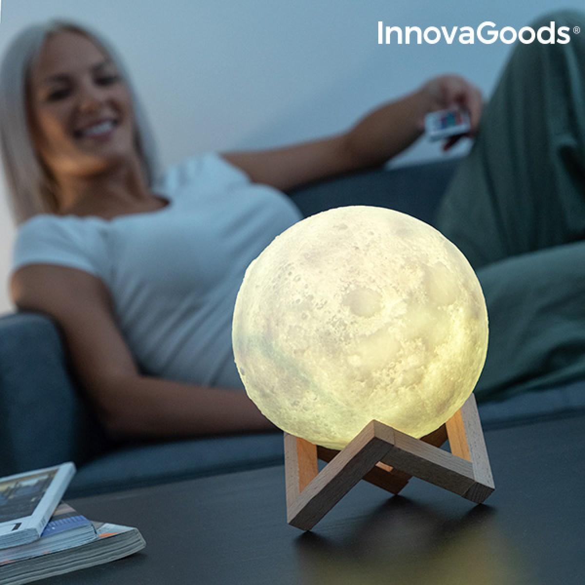 InnovaGoods genopladelig LED lampe måne