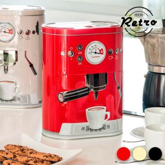 Image of   Vintage Kaffemaskine Metalboks - Farve: Rød