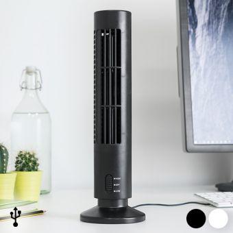 Image of   USB Tårnventilator - Farve: Sort