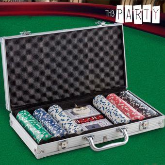 Image of   Th3 Party Pokersæt med Deluxe Æske (300 chips)