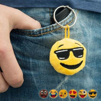 Image of   Emoji Plys-Nøglering - Design: Cool