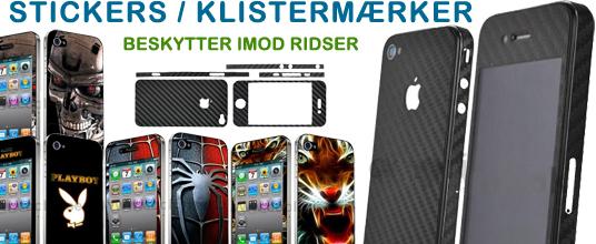 Undgå ridser i din iPhone 4 med stickers/klistermærker med fede designs!
