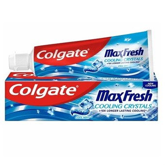 Colgate Max Fresh Cool Mint Tandpasta - 75 ml (Cooling Crystals +10 LongerLasting Cooling)