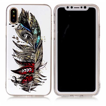 Image of   Nice Design Cover i blød TPU plast til iPhone X - Feather