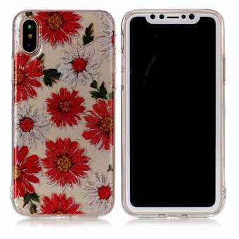 Image of   Nice Design Cover i blød TPU plast til iPhone X - Gerbera
