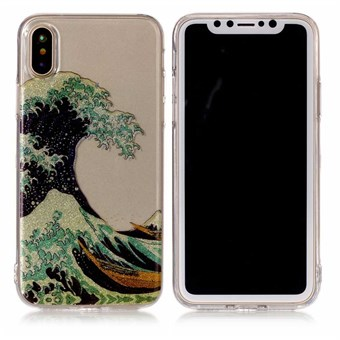 Image of   Nice Design Cover i blød TPU plast til iPhone X - Sea Wave