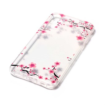 Image of   Nice Design Cover i blød TPU plast til iPhone X - Flower Decor