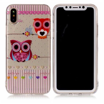 Image of   Nice Design Cover i blød TPU plast til iPhone X - Owl