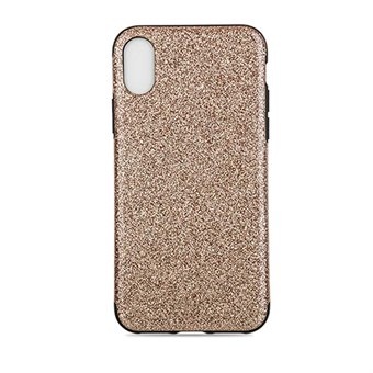 Image of   Shiny Glitter Cover i blød TPU plast til iPhone X - Guld