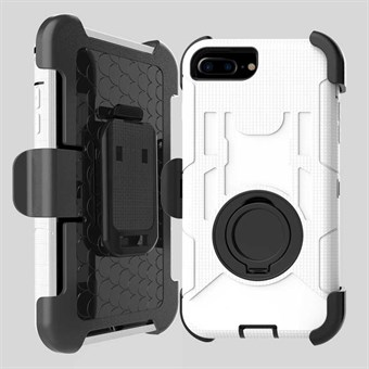 Image of   iphone 7&8 Plus Belt Clip Holster Silicone And PC Back Case - Hvid / under updatering