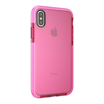 Image of   Perfect Glassy Cover i TPU plast og silikone til iPhone X - Pink