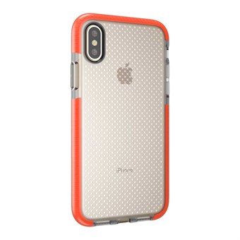 Image of   Perfect Glassy Cover i TPU plast og silikone til iPhone X - Orange