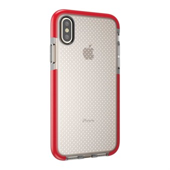 Image of   Perfect Glassy Cover i TPU plast og silikone til iPhone X - Rød