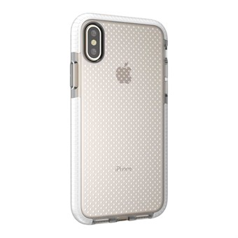 Image of   Perfect Glassy Cover i TPU plast og silikone til iPhone X - Hvid