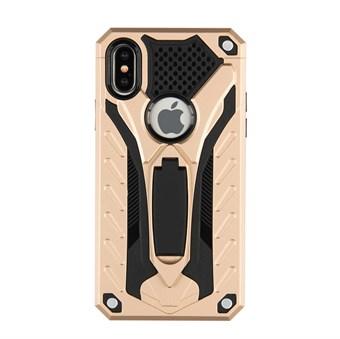 Image of   Cool Robot Hardcase i TPU plast og silikone m/ Kickstand til iPhone X - Guld