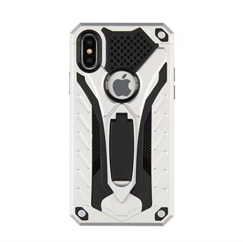 Image of   Cool Robot Hardcase i TPU plast og silikone m/ Kickstand til iPhone X - Sølv