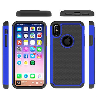 Image of   Hot Bubble Hardcase i TPU plast og Silikone til iPhone X - Mørkeblå