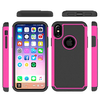 Image of   Hot Bubble Hardcase i TPU plast og Silikone til iPhone X - Pink