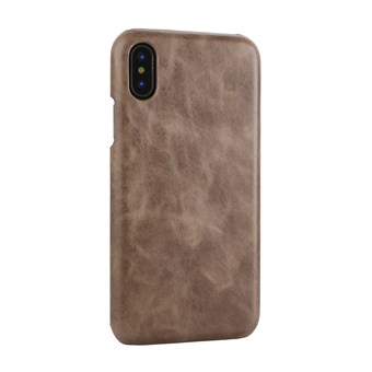 Image of   IPhone X Læder Cover - Coffee