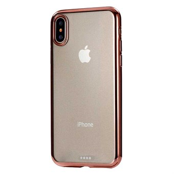Image of   Crystal Clear Cover i blød TPU plast til iPhone X - Rød
