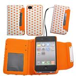 Dog Pattern Kort Etui/Cover 2in1 (Orange)