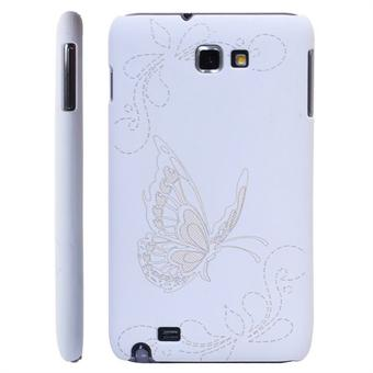 Image of   Galaxy Note Sommerfugl cover (Hvid)