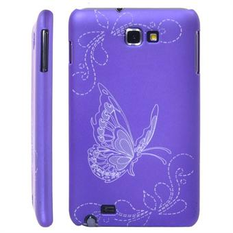 Image of   Galaxy Note Sommerfugl cover (Lilla)