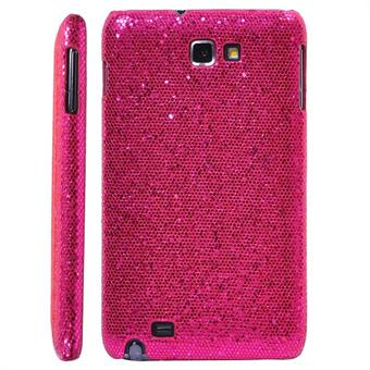 Image of   Galaxy Note Glittery Cover (Hot-Pink)