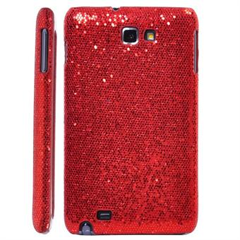 Image of   Galaxy Note Glittery Cover (Rød)