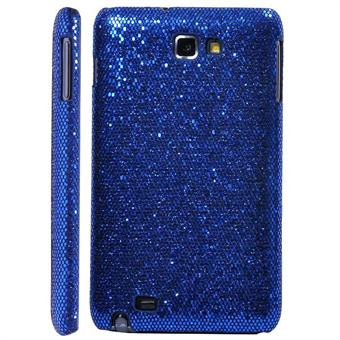 Image of   Galaxy Note Glittery Cover (Blå)