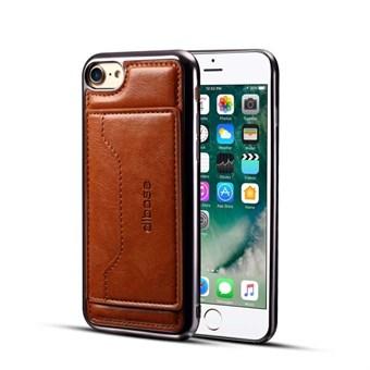 Image of   High Trend Cover i PU læder og TPU plast m/ Kortholder til iPhone 7 Plus / iPhone 8 Plus - Brun