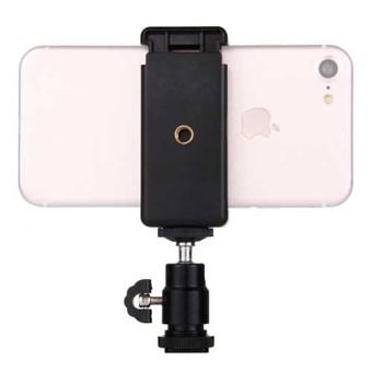 Image of   PULUZ® Tripod Head m/ Mobilklemme til GoPro og Smartphone