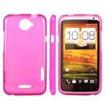 Simple Silikone HTC ONE X (Pink)