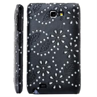 Image of   Galaxy Note Bling Cover (Sort)