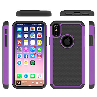 Image of   Hot Bubble Hardcase i TPU plast og Silikone til iPhone X - Purple
