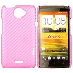 Corbon Cover HTC ONE X (Pink)