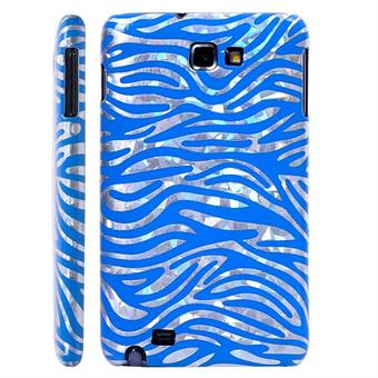 Image of   Galaxy Note Zebra cover (Blå)