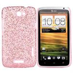 Glittery HTC ONE X Cover (Pink)