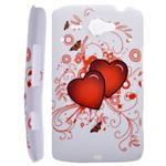HTC ChaCha Motiv Cover (Double Heart)